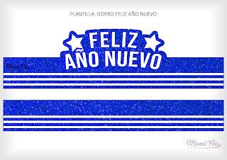 Gorro Feliz Año Nuevo Azul
