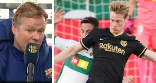 Koeman impressed with De Jong's attacking contribution this season