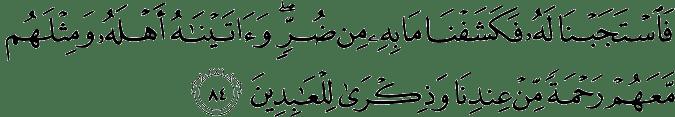 Surat Al Anbiya Ayat 84