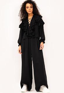 Дамска Блуза и Панталон с широк крачол - Bluzat