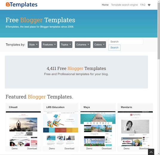 Btemplatesのサイト画像