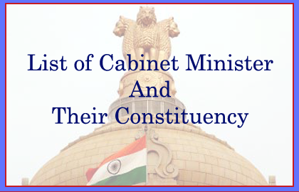 Cabinet Ministers and Constituency