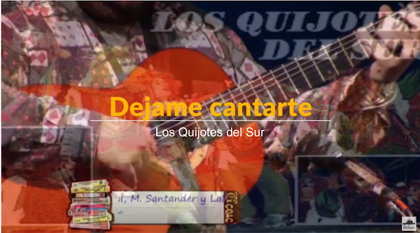 """Pasodoble con LETRA """"Déjame cantarte"""". Comparsa """"Los Quijotes del Sur"""" por G. Rendon, Caracol, M. Santander y Lali"""