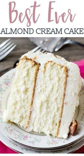 BEST EVER ALMOND CREAM CAKE RECIPE