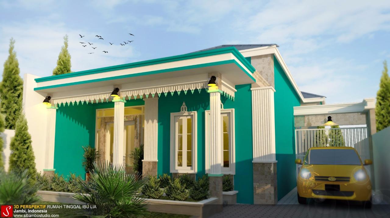 Gamabr Rumah Adat Jambi Desain Sederhana Bernuansa Etnik Di Lahan 10 X 205