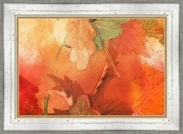 Bestselling Fall Abstract Leaves Watercolor Painting by artist Irina Sztukowski