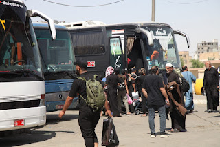 الوكيل الفني لوزارة النقل يطلع ميدانيا على حركة الزائرين في محور الحيدرية في كربلاء المقدسة