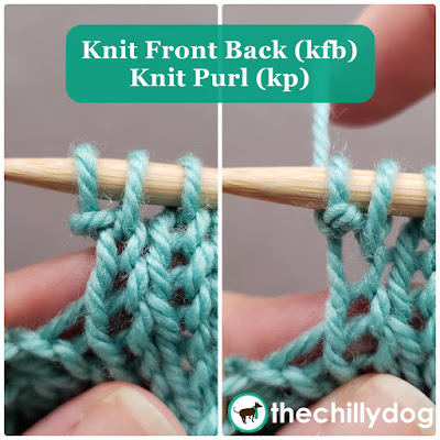 Knitting Tutorial: Increasing stitches with a knit front back (kfb) or knit purl (kp)