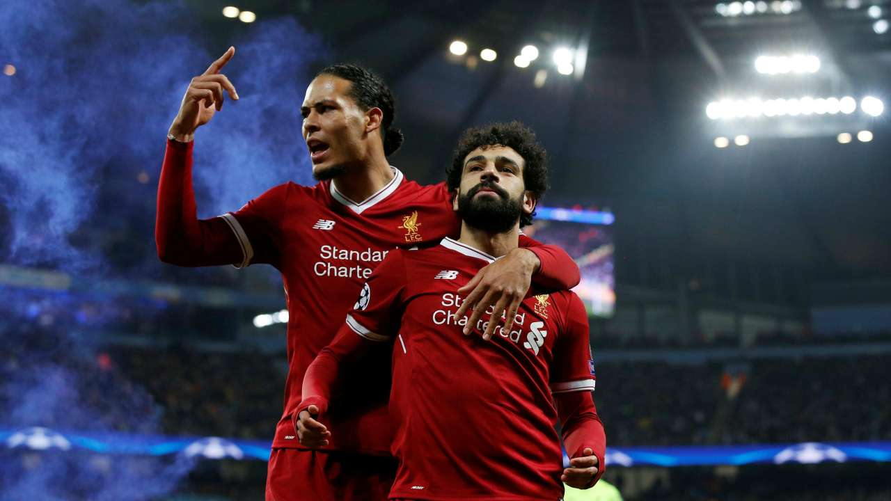 Virgil Van Dijk and Mohamed Salah