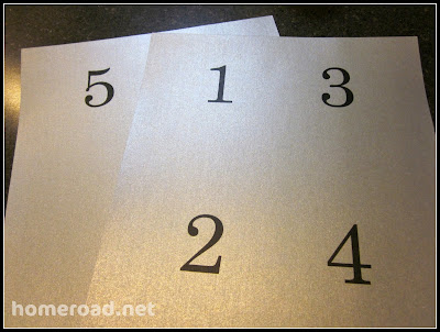 Numbered DIY tags