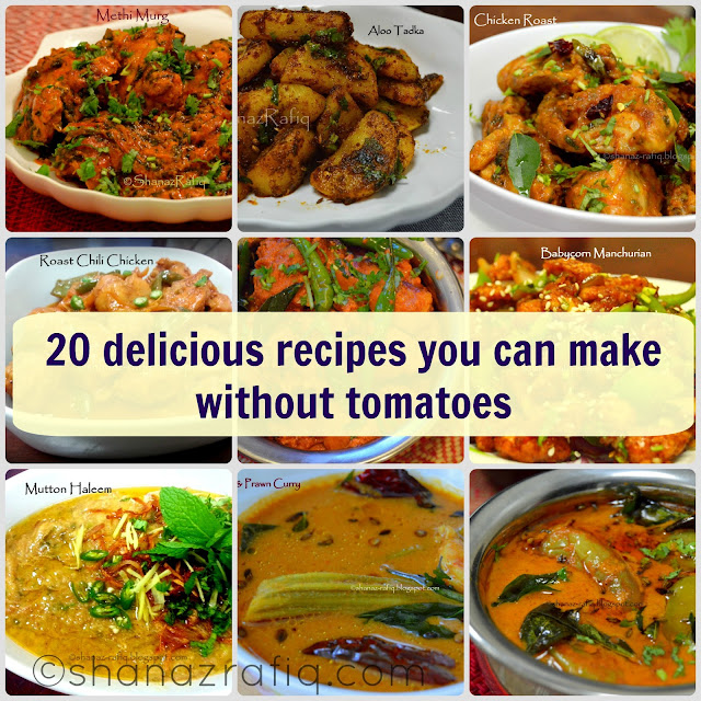 no tomato recipes
