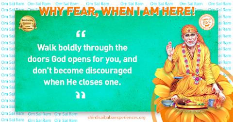 Doors - Sai Baba Blessing Hand Sitting Posture Painting Image