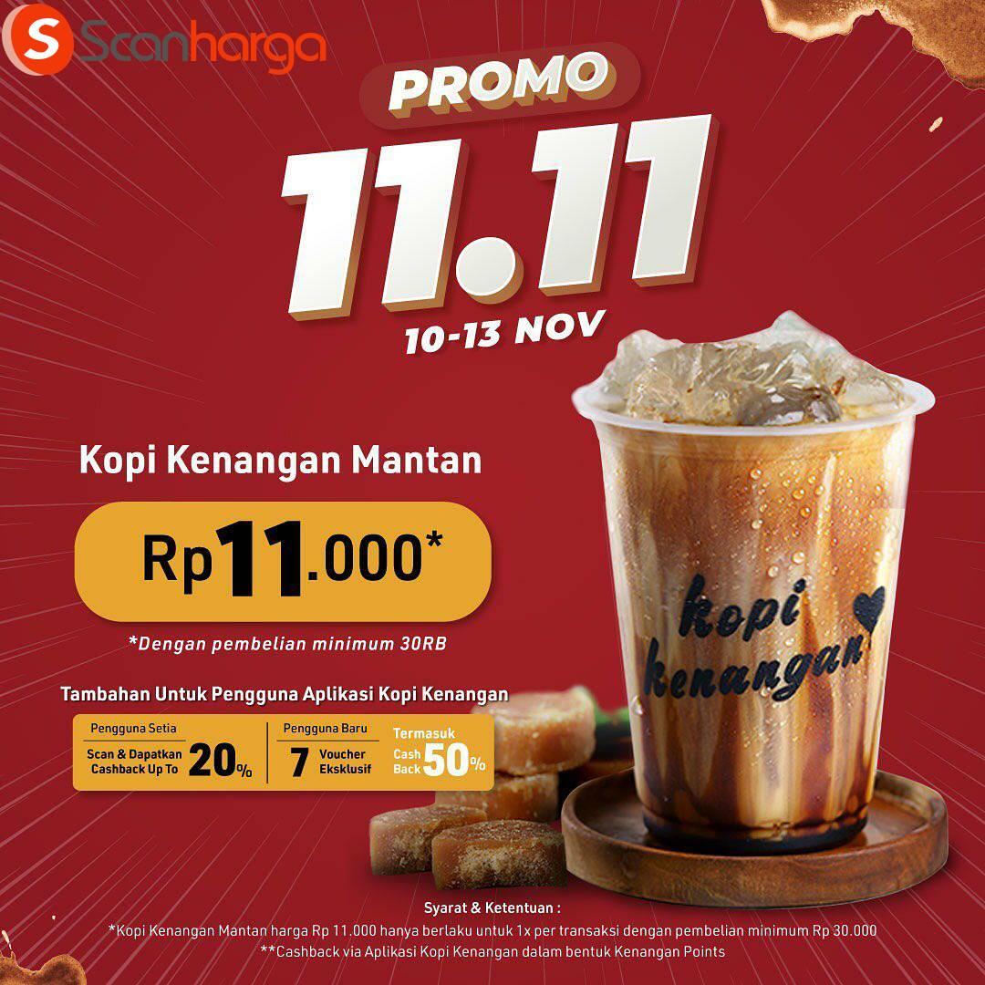 Promo Kopi Kenangan Flash Sale 11.11: harga spesial kopi kenagan mantan hanya Rp 11.000