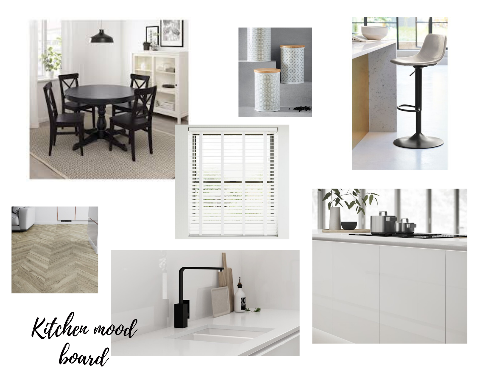 Kitchen re-design moodboard