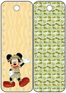 Mickey Safari Kit Completo Com Molduras Para Convites Rotulos