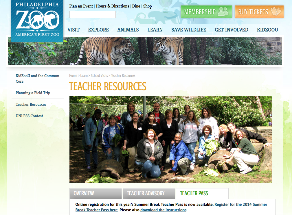 http://www.philadelphiazoo.org/user/TeachersLounge.htm