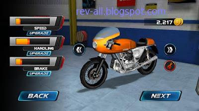 Tampilan pertama game android Moto Traffic Race - Permainan mengendarai motor melawan lalu lintas ramai (rev-all.blogspot.com)