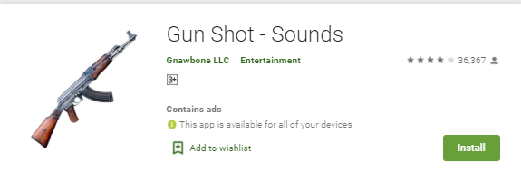 gunshot sound effects app for android and iphon