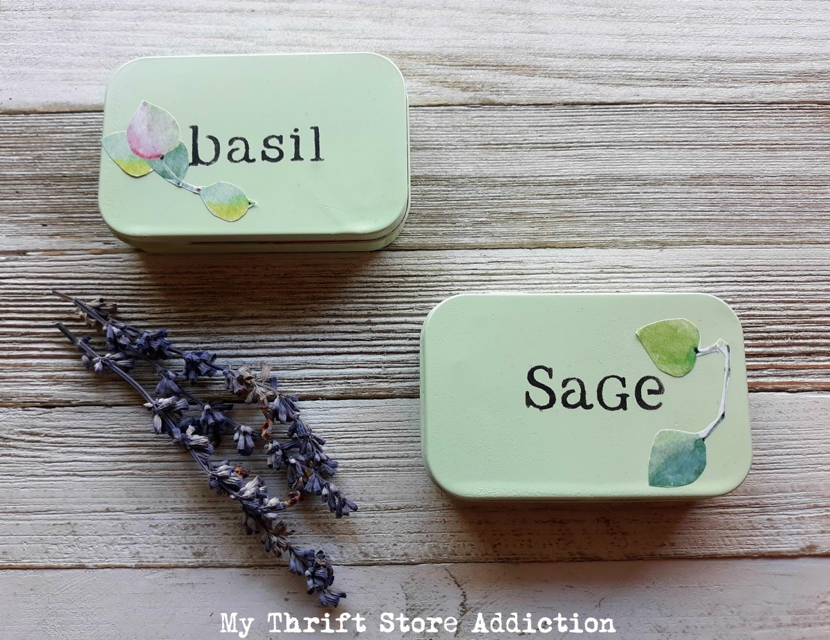 upcycled mint box herb tins