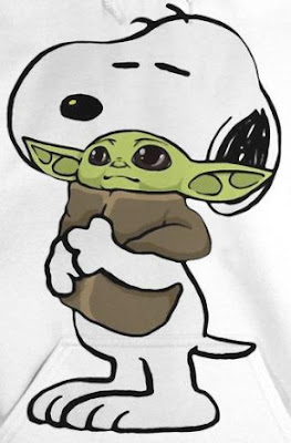 Snoopy Hugging Baby Yoda T Shirt Hoodie sweatshirt Sweater tank Top. GET IT HERE