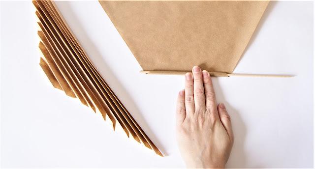 como hacer una hoja de palma de papel