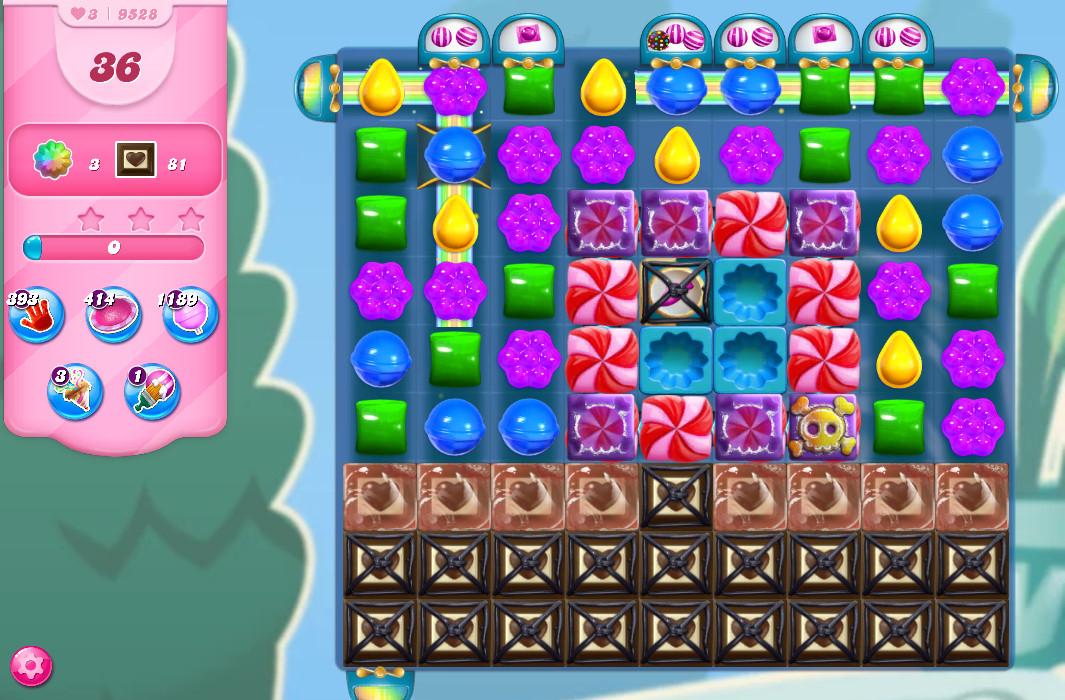 Candy Crush Saga level 9528