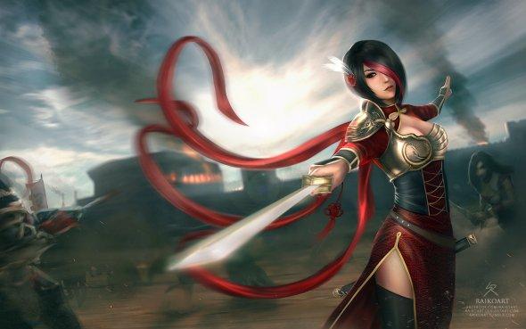 Sean Tay raikoart deviantart artstation ilustrações mulheres fantasia games