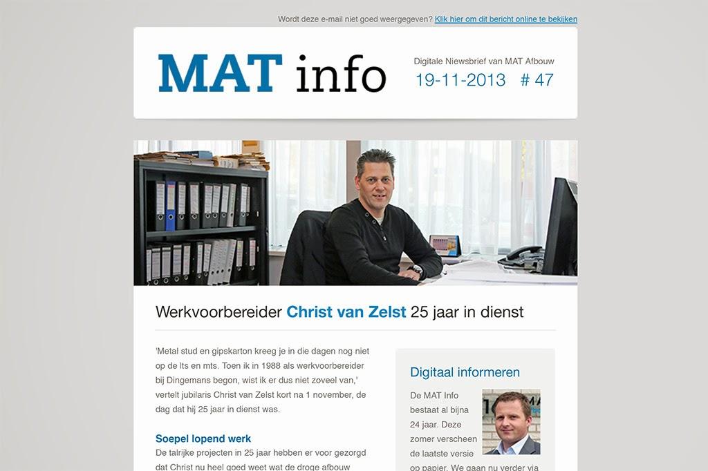 Digitale nieuwsbrief via e-mail