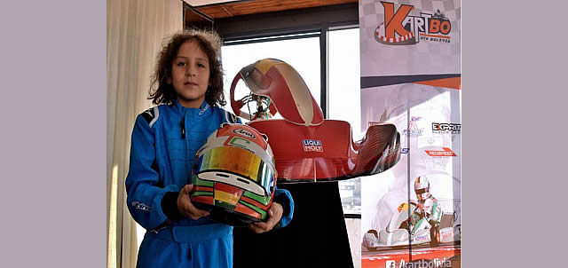 Lucas Careaga con 9 años de edad es miembro de la selección de karting para competencias internacionales