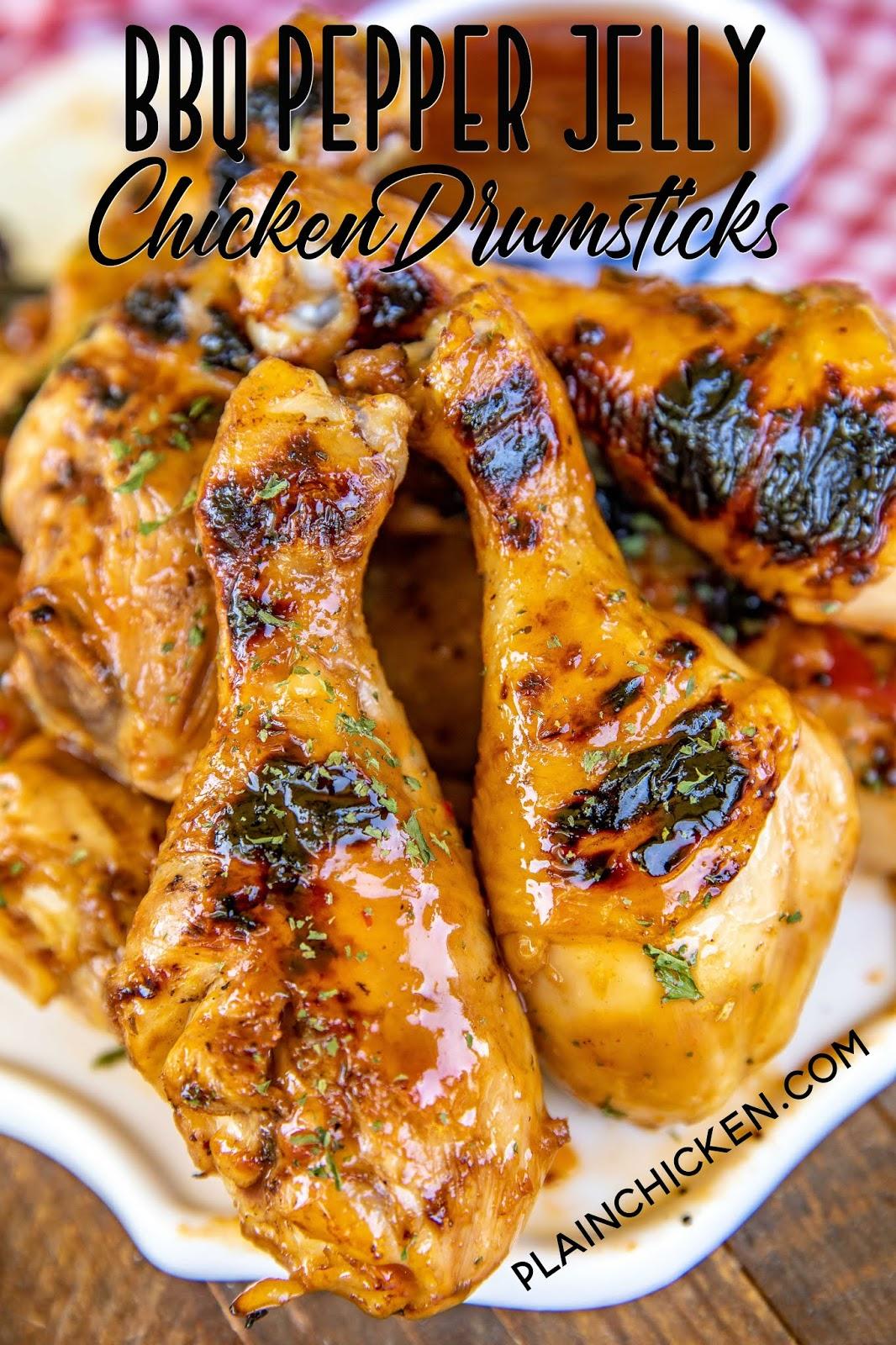 grilled chicken drumsticks on a platter