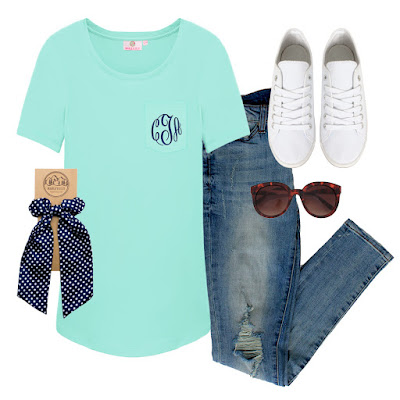 monogram outfit for spring