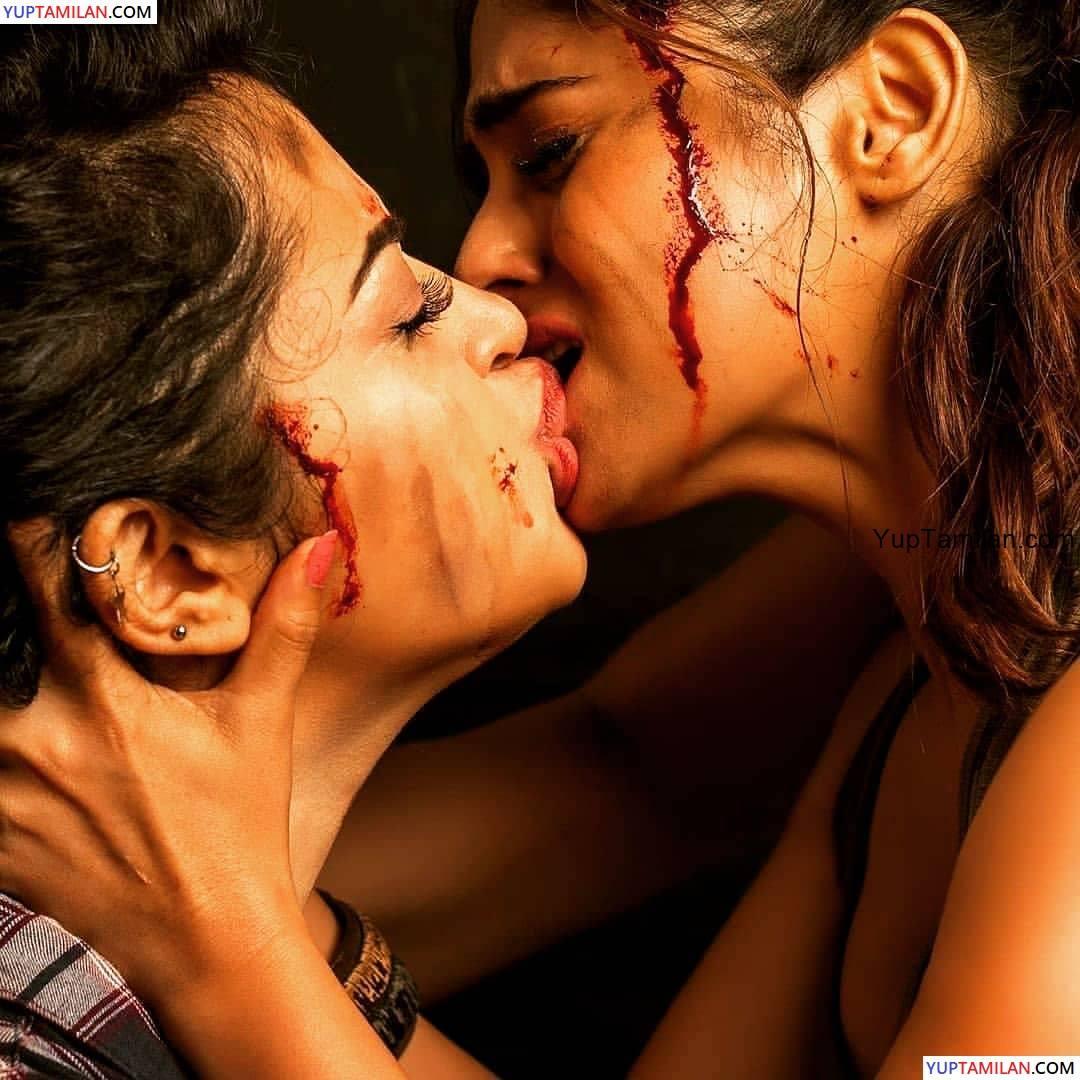 Apsara Rani & Naina Ganguly Lesbian Kiss Pics from Dangerous Movie