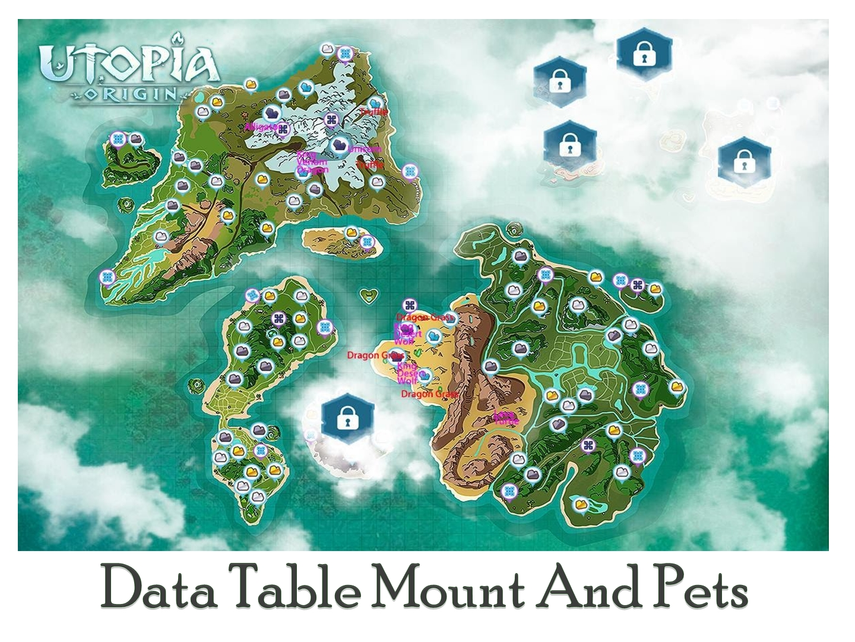Data Table Mount and Pets Utopia Origin