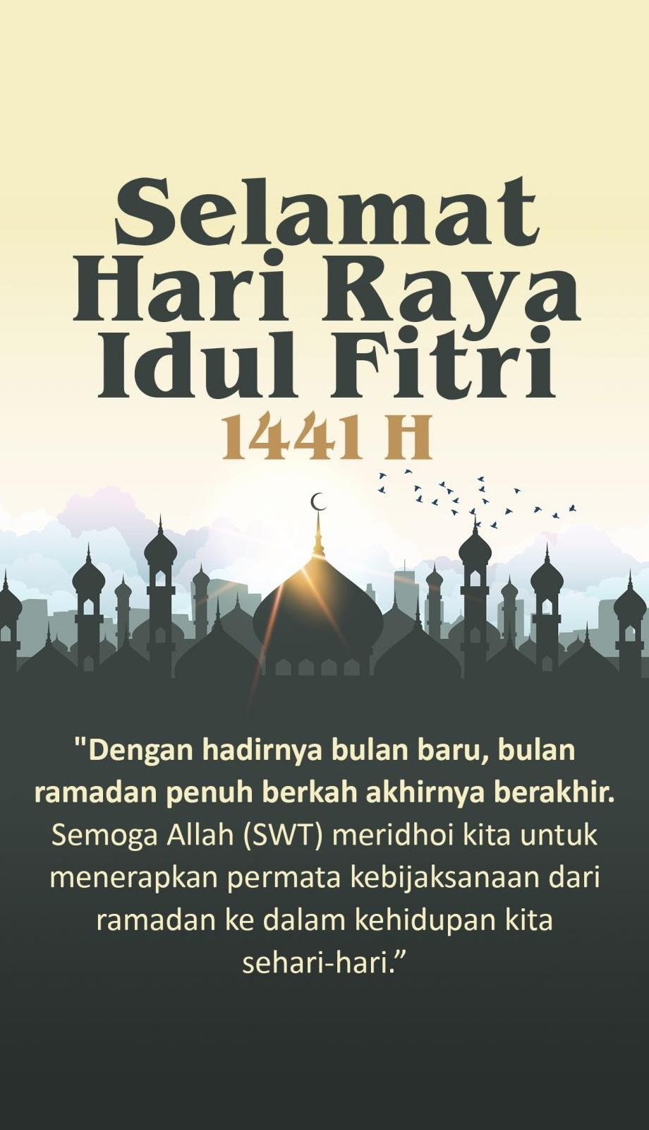 Gambar Ucapan Selamat Hari Raya Idul Fitri 1441 H 2020