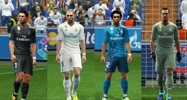 PES 2013 Real Madrid 2017-18 GDB Kits V2 0e2443469