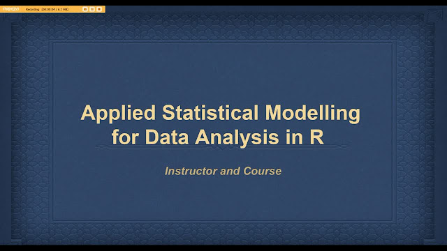 Applied Statistical Modeling for Data Analysis in R
