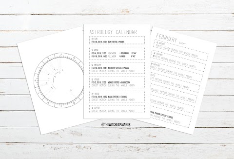 January Astrology Calendar