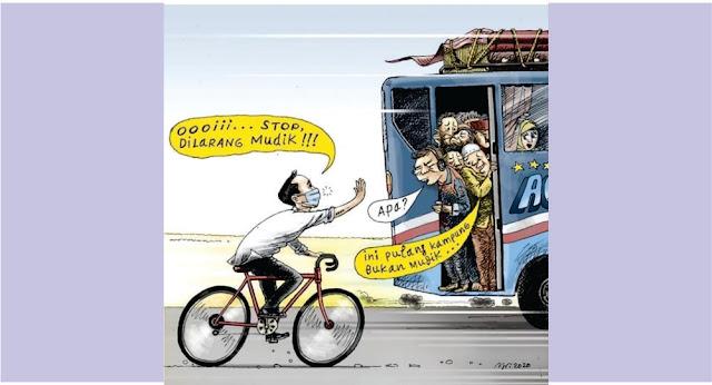Meme Mudikdan Pulang Kampung Jokowi