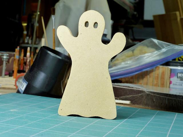 Handmade Toy Wood Halloween Ghost Cutouts