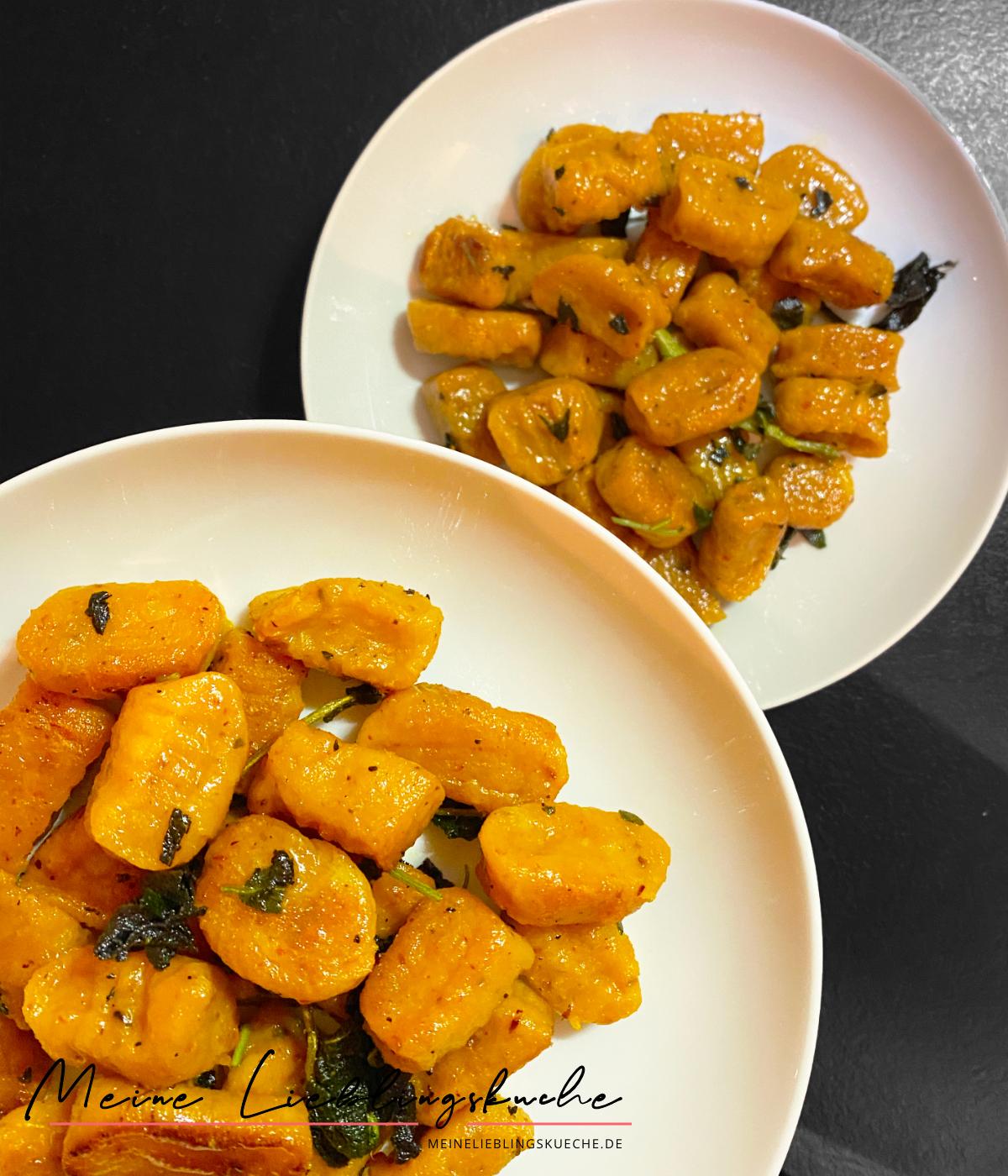 vegane Kürbis-Gnocchi in Salbei-Butter