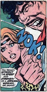 Shanna the She-Devil #1, the speed and strength of a natural woman, Zok