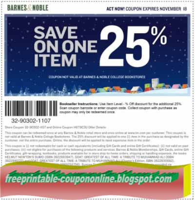 Barnes and noble coupons in store 2018