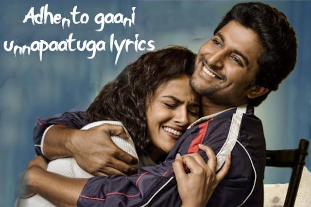 Adhento Gaani Vunnapaatuga Lyrics - Jersey (2019)   Nani   jersey movie songs download