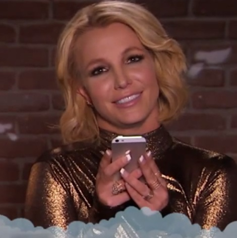 "Britney Spears Reading A ""Mean Tweet"" About Her On Jimmy Kimmel Live"