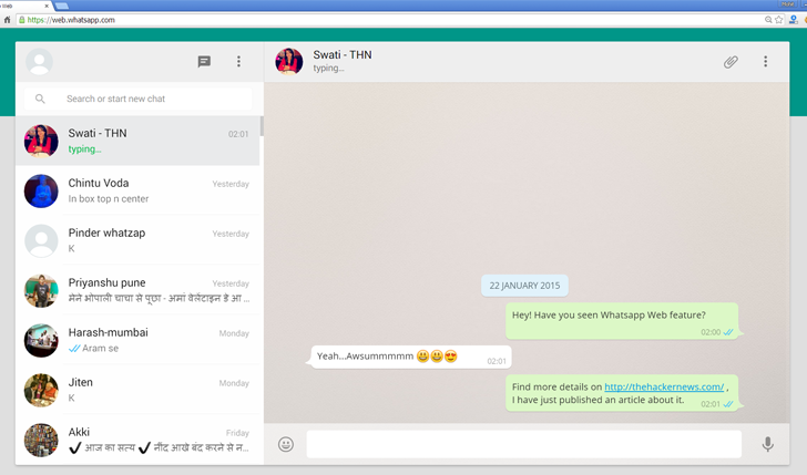 WhatsApp Web — New WhatsApp Feature Allows You to Chat From