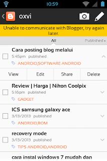 Cara Poting blog menggunakan ponsel android dengan benar