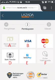 Metode Pembayaran Lazada