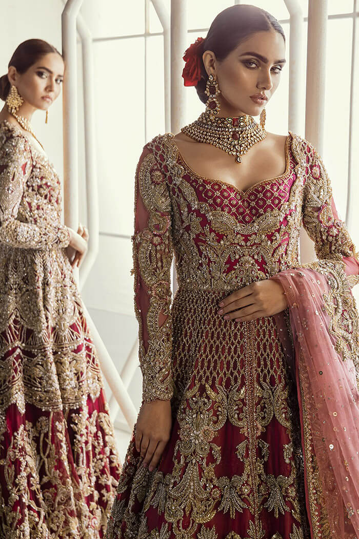Suffuse by Sana Yasir Red Bridal Dress