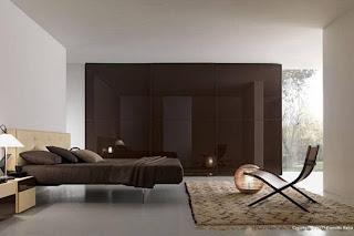 diseño de dormitorio chocolate