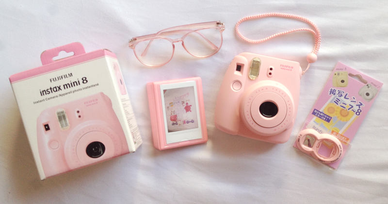 April Fool Romance Pink Instax Mini 8 Polaroid Camera Review